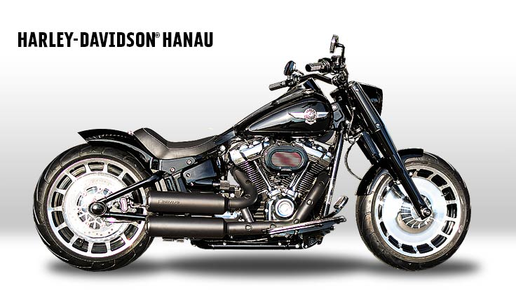 Harley-Davidson Softail Fat Boy Umbau Fat Beast Custombike
