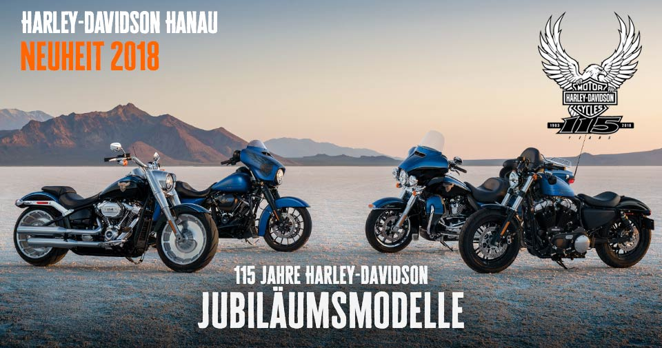 115th anniversary jubil umsmodelle harley davidson hanau. Black Bedroom Furniture Sets. Home Design Ideas