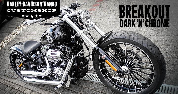 breakout umbau dark 39 n 39 chrome custombike customshop. Black Bedroom Furniture Sets. Home Design Ideas