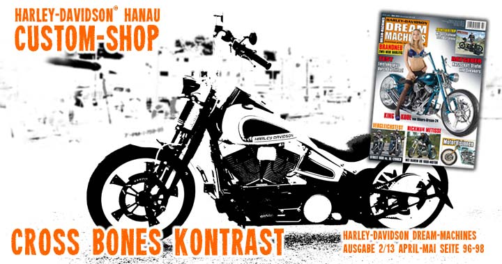 Customshop Custombike Umbau Softail Cross Bones Kontrast - Dream-Machines