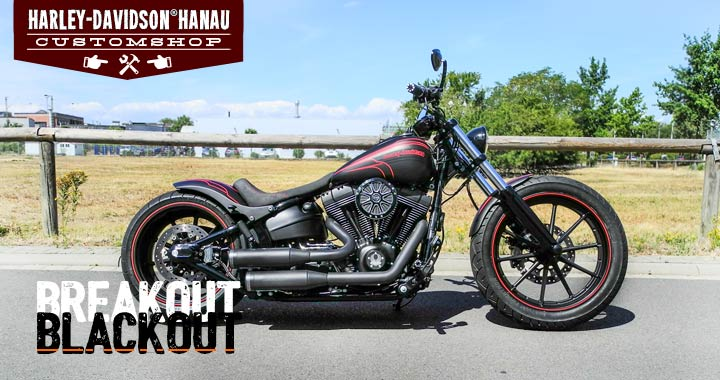 Softail Breakout Umbau zum Blackout Custombike von Harley-Davidson Hanau