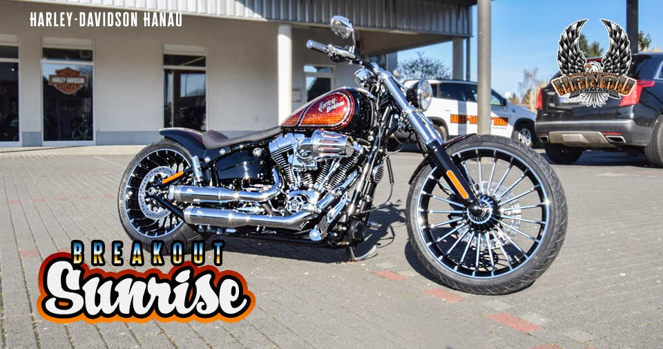 breakout sunrise umbau custombike harley davidson hanau. Black Bedroom Furniture Sets. Home Design Ideas