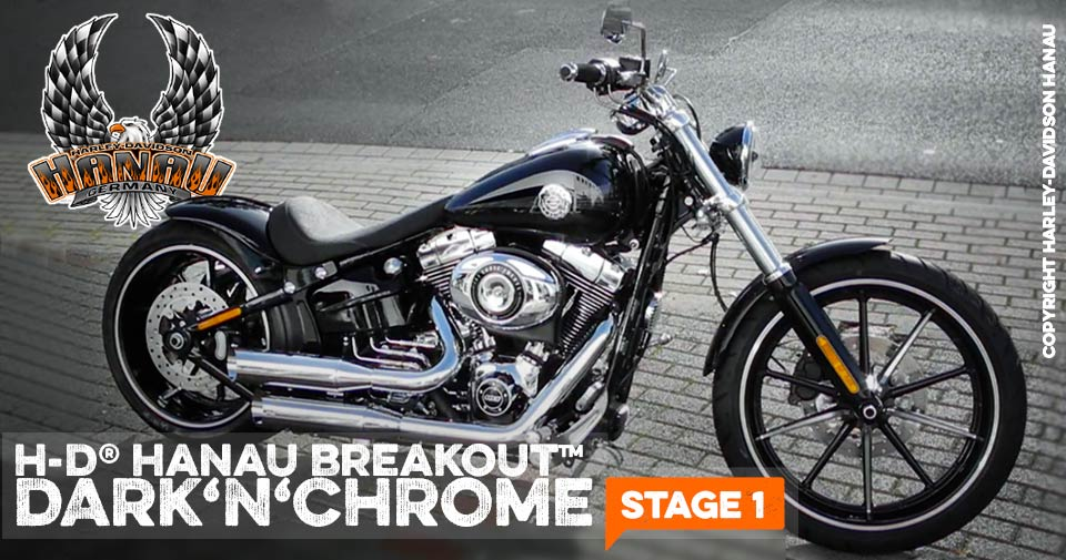 Softail Breakout - Dark 'n' Chrome Stage 1 Custombike