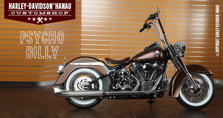 Custombike Softail Deluxe Psycho Billy