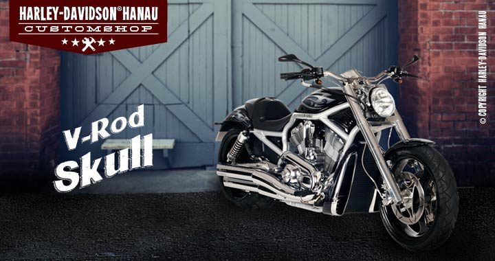 Custombike Umbau V-Rod Skull