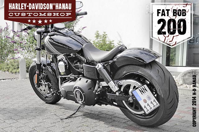 Dyna Fat Bob Umbau 200 Custombike umgebaut von Harley-Davidson Hanau
