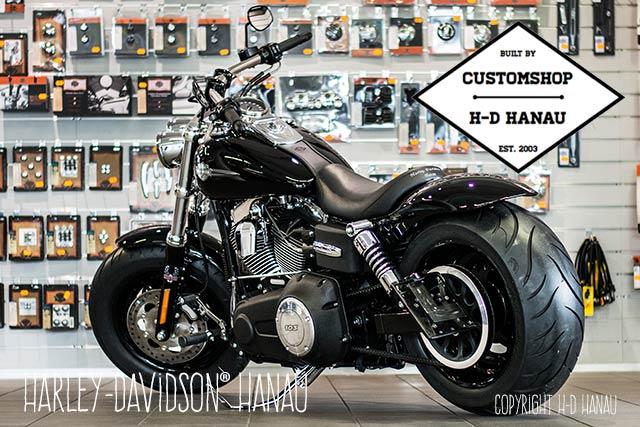 Dyna Fat Bob Umbau Fetter Bob Custombike umgebaut von Harley-Davidson Hanau