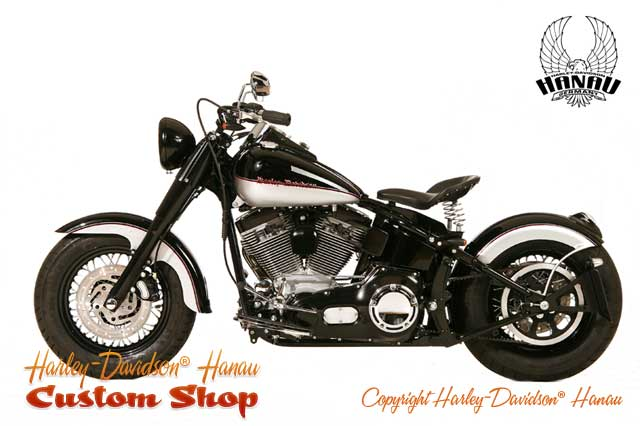 softail umbau bobber custombike customshop harley. Black Bedroom Furniture Sets. Home Design Ideas