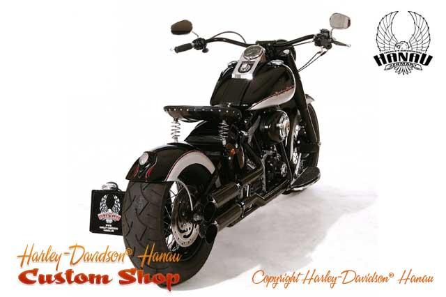 Softail Umbau zum Bobber Custombike umgebaut von Harley-Davidson Hanau