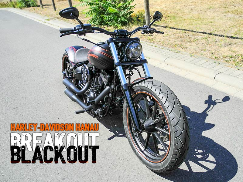 Softail Breakout Umbau Blackout Custombike von Harley-Davidson Hanau