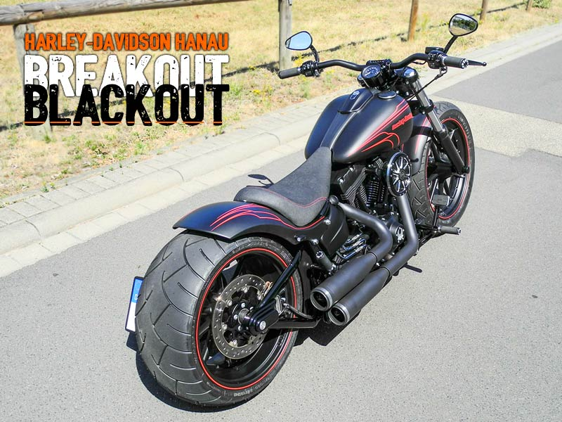 Softail Breakout Umbau Blackout Custombike von Harley-Davidson Hanau