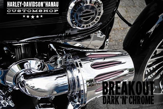 Softail Breakout Umbau Dark 'n' Chrome Custombike von Customshop Harley-Davidson Hanau