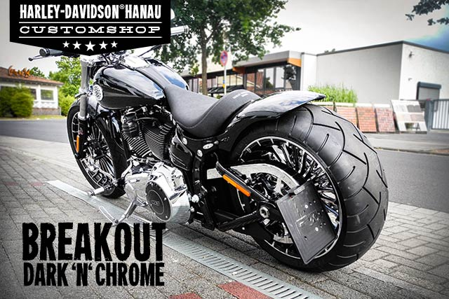 Softail Breakout Umbau Dark 'n' Chrome Custombike von Customshop Harley-Davidson Hanau