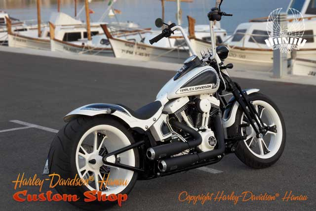 Softail Cross Bones Umbau Kontrast Custombike von Customshop Harley-Davidson Hanau
