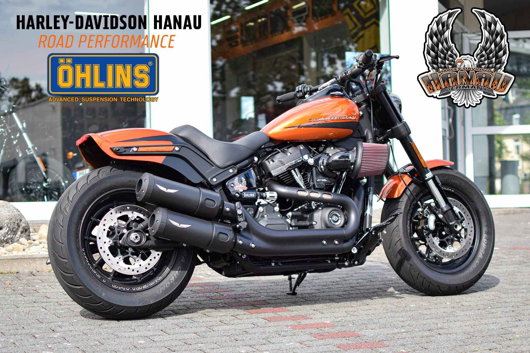 Harley-Davidson Hanau präsentiert Fat Bob Road Performance by Öhlins