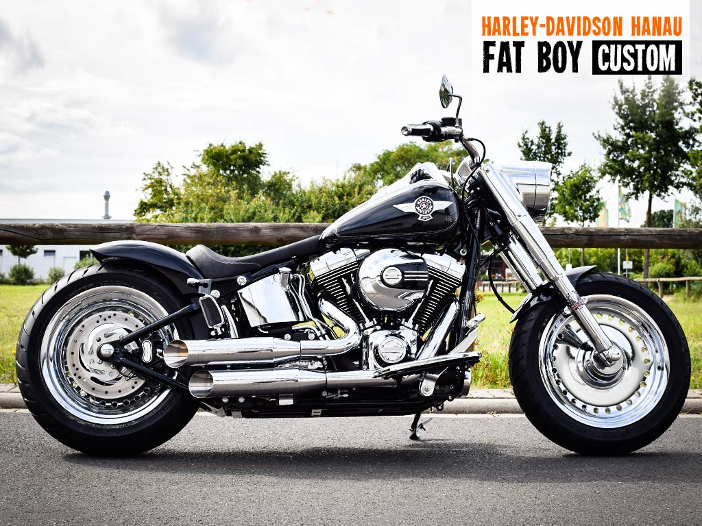 softail fat boy umbau custom custombike von harley davidson hanau. Black Bedroom Furniture Sets. Home Design Ideas