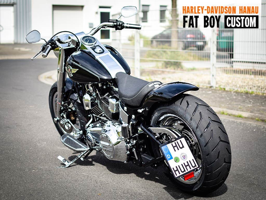 2017 Fat Bob >> Softail Fat Boy Umbau Custom Custombike von Harley-Davidson Hanau
