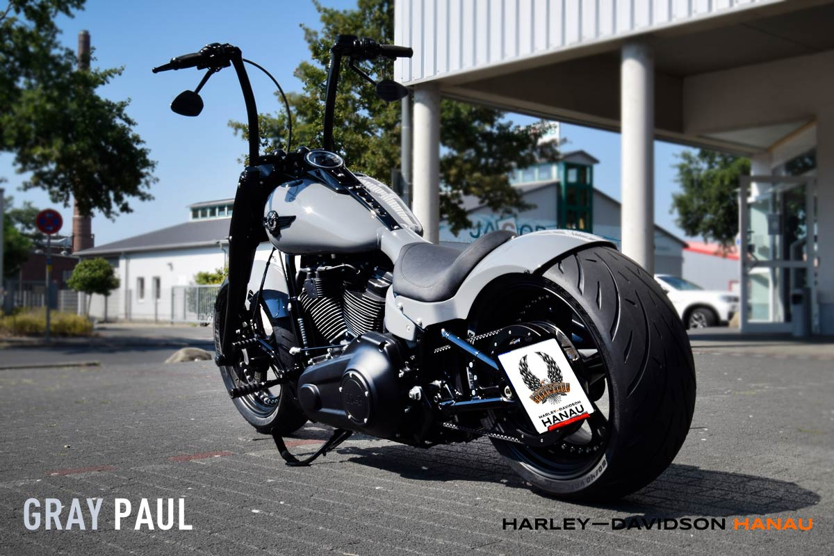 Harley-Davidson Hanau Fat Boy Umbau Gray Paul Custombike