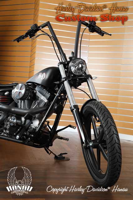 Softail Rocker Umbau Oldschool Custombike vom Customshop Harley-Davidson Hanau