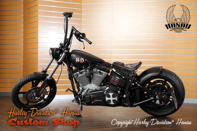 Softail Rocker Umbau Oldschool Custombike vom Customshop Harley-Davidson Hanau