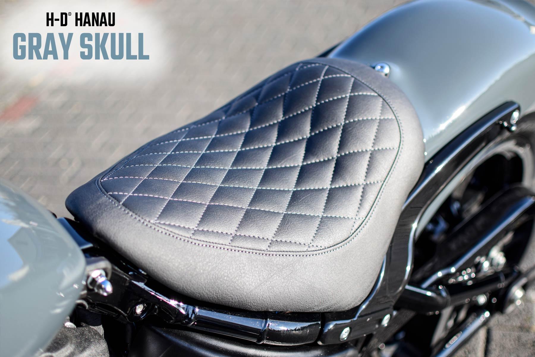 Harley-Davidson Hanau Street B Umbau Gray Skull Custombike