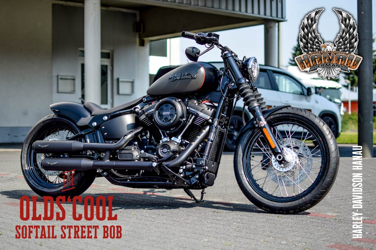 softail street bob umbau the old 39 s cool harley. Black Bedroom Furniture Sets. Home Design Ideas
