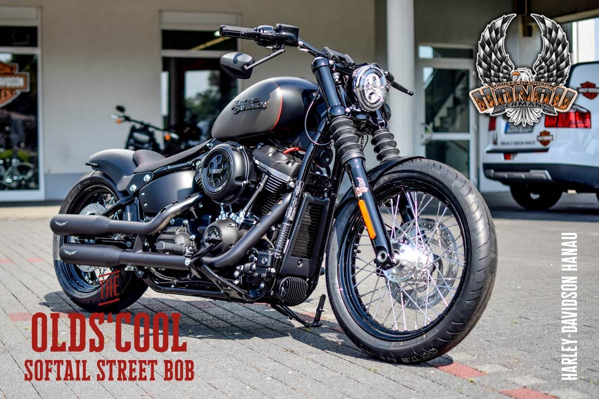 Harley-Davidson Hanau präsentiert Softail Street Bob Umbau The Old's Cool