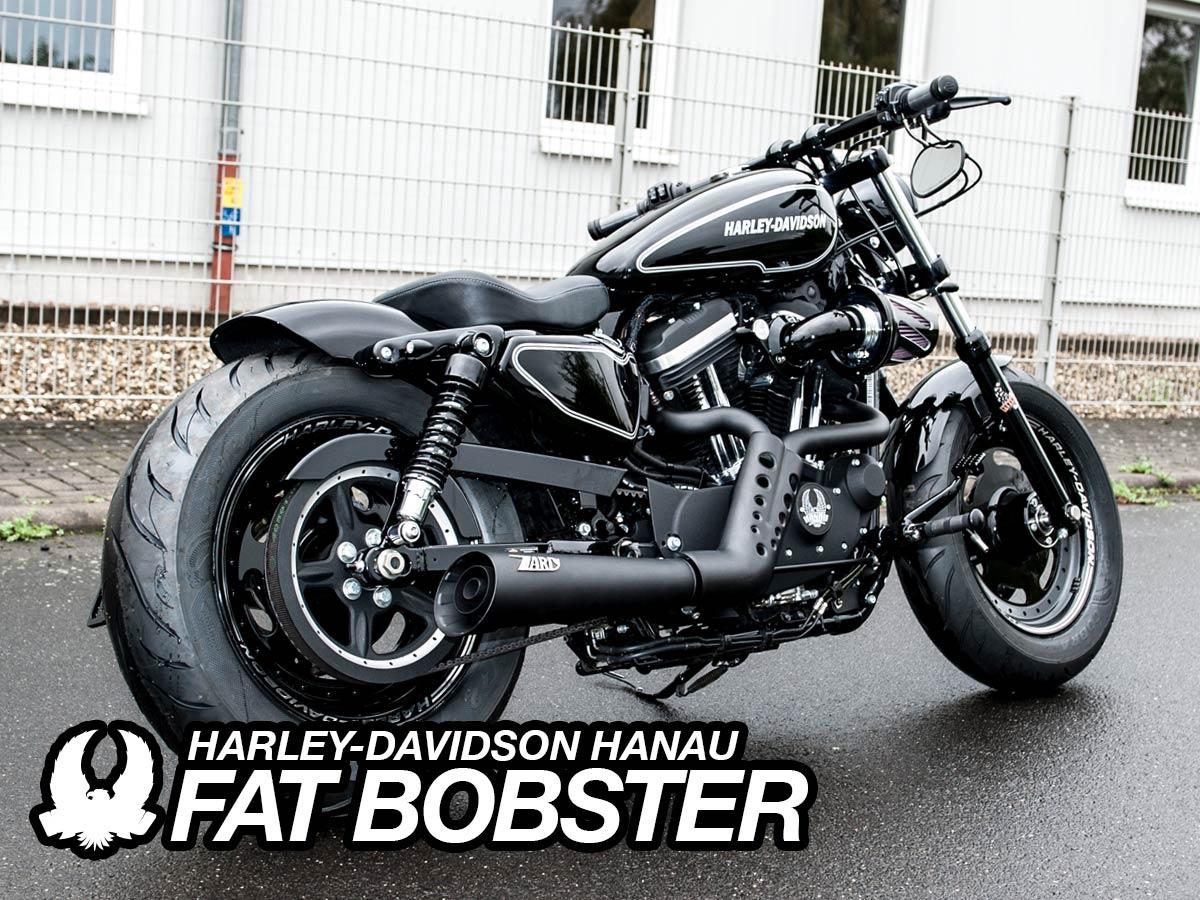 sportster umbau fat bobster custombike customshop harley. Black Bedroom Furniture Sets. Home Design Ideas