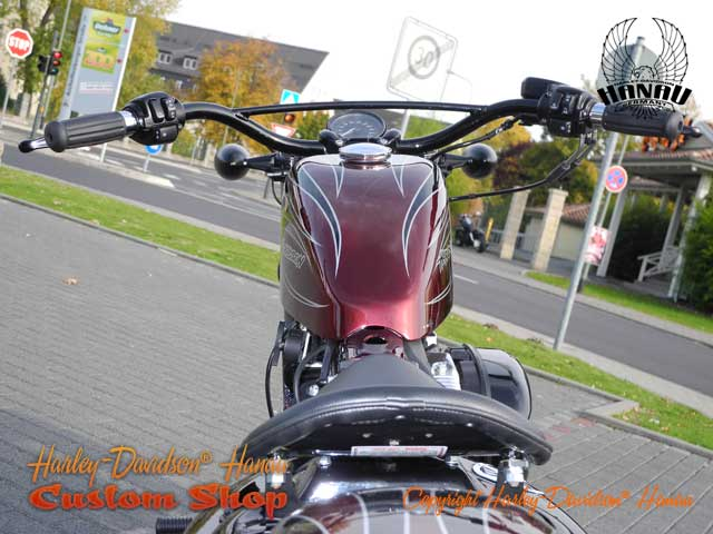 Sportster Forty-Eight Umbau Cherry Bomb 48 Custombike - Umbau von Harley-Davidson Hanau