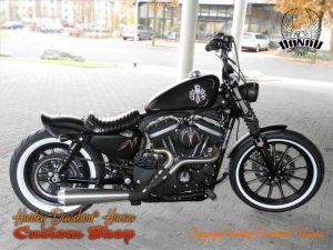 Sportster Iron 883 R Umbau Angry Piston Custombike Umbau von Harley-Davidson Hanau