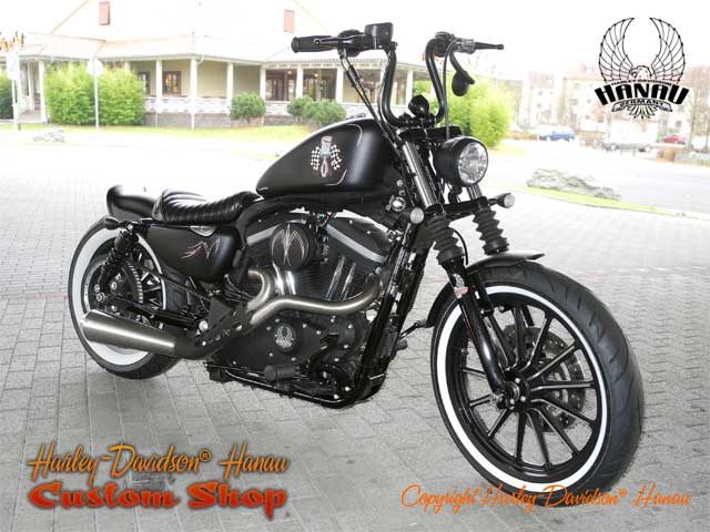sportster iron 883 r umbau angry piston custombike. Black Bedroom Furniture Sets. Home Design Ideas