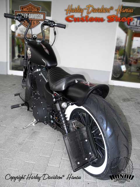 Sportster Iron 883 R Umbau Angry Piston Custombike - Umbau von Harley-Davidson Hanau