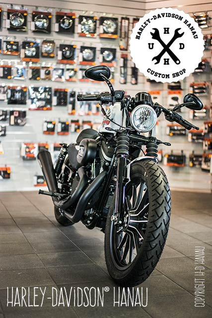 Sportster Iron 883 R Umbau Vintage Iron Custombike umgebaut von Harley-Davidson Hanau