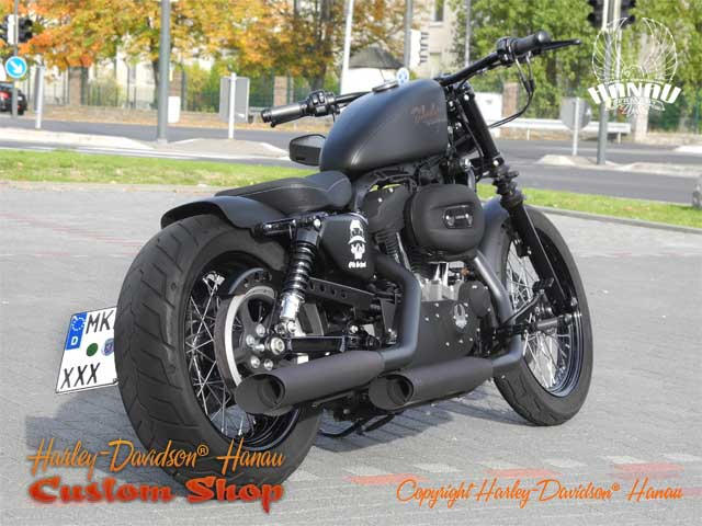 sportster nightster umbau night chaser custombike. Black Bedroom Furniture Sets. Home Design Ideas