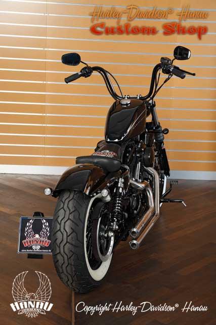 Sportster Nightster Umbau Oldschool Custombike Umbau von Harley-Davidson Hanau