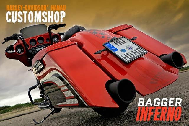 Touring Street Glide Umbau Bagger Inferno Custombike von Harley-Davidson Hanau