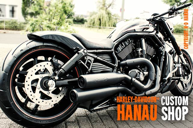 V-Rod Night Rod Special Umbau Flatliner Custombike umgebaut von Harley-Davidson Hanau