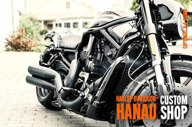 V-Rod Night Rod Special Umbau Flatliner Custombike umgebaut von Harley-Davidson Hanau