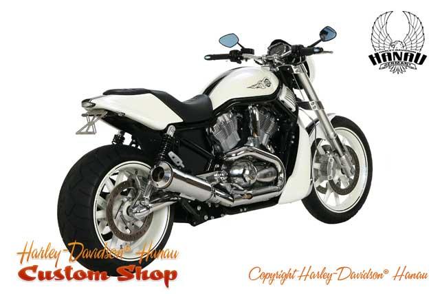 Street Rod Umbau zum White Pearl RS Custombik von Harley-Davidson Hanau